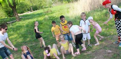 Игры с детьми на природе